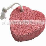 FA0012 most popular new design red heart shape pumice stone                                                                         Quality Choice