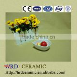 wholesale High Quality white ceramic olive shape dish