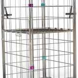 Nestable Heavy Duty Cage Roll Trolley With Wheels , Cage Trolley