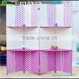 Wooden antique room screen folding screen custom acrylic folding screen / clear plastic screen/soundproof room divider ,GVSD034
