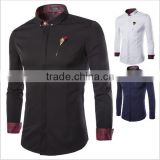 New winter wind hit color with high-grade Mens Long Sleeve Shirt