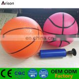 Factory stocking inflatable PVC basketball inflatable rubber ball inflatable silicone ball with needle valve