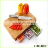 Totally Bamboo Big Kahuna Cutting Board with 3 Acrylic/Homex_Factory