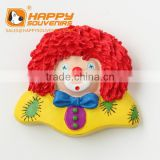 High quality 3D custom Clown resin souvenir fridge magnet for promotion gift,home decor