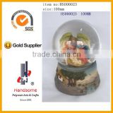 resin glass ball with holy family