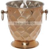stainless steel copper coloured wine cooler