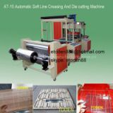 INQUIRY ABOUT roll plastic pvc pet boxes crease and die cut machine
