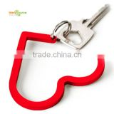 Novelty Heart-Shape Red Table Metal Bag Hanger                                                                         Quality Choice