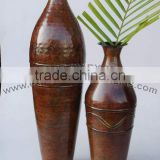 Metal Bottle Vases