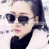 Women Glasses Metal Flat Lens Vintage Fashion Mirrored Oversized Sunglasses AS002