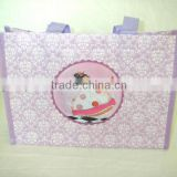 full printing non woven handle bag/non woven handbag/handbag full color printing in pp woven bag