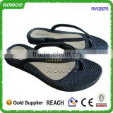 Black Fashion Latest Ladies Slippers Sandals