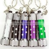 LED Flashlight Torch Zinc Alloy keychain/Mini outdoors Torch