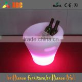 plastic led ice bucket color changing,bars nightclubs LED light up ice bucket Champagne beer bucket