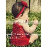 Red Baby Chiffon Ruffles Bloomer Panties T22