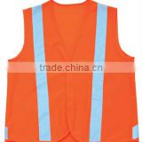 Hi vis mesh vest with PVC lattice tape ,High visibility mesh vest with zipper ,ANSI mesh vest with ANSI 107 standard