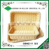 Bulk woven bread plastic food basket