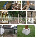 Building base solid concrete block size