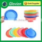 Folding silicone dog bowl glovion pet feeding bowl silicone pet dog bowl