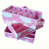 three-piece non-woven fabric storage boxes without covers