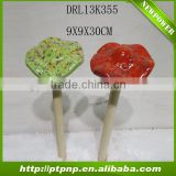 Cute ceramic mushrooms for home and garden