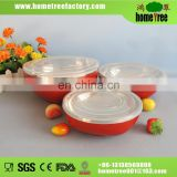 stainless steel bowl with plastic lid