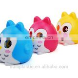 promotion item plastic material money box, custom pvc animal piggy banks	, kids plastic wholesale coin banks