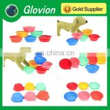 Glovion foldable pet bowl non-toxic colorful silicone folding pet bowl friendly pet bowl