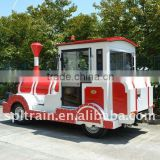 Locomotive with IVECO engine, diesel train for amusement park