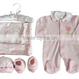 100%cotton baby wear 5pcs gift set