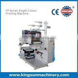 FP450 single colour stickers label flexo printing machine