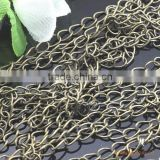 3x5mm Antique Bronze Tail Chain Copper Link Cable Chain