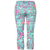 customized the sublimation capri leggings for women