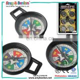 Hot selling cheap kids toy mini plastic black compass