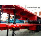 CHINA HEAVY LIFT - Three Line Six Axle Lowbed Trailer CHINA HEAVY LIFT - Flatbed Container TrailerCHINA HEAVY LIFT - 3 axle Flatbed Container Trailer