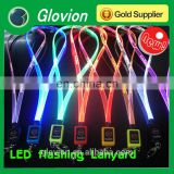 New Design fashionable LED flashing Laser carve lanyard for promitional gift