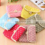 Beautiful cotton floral sanitary pad bag wholesale for girls