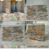decorative rock wall panels in rusty slates