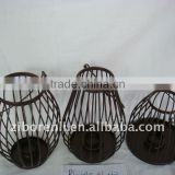 together with industrial metal basket for garden decoration