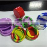 customize round shaped silicone container for electronic cigarette wax oil