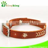 Genuine cow leather dog collars, western regions style