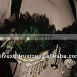 Gothic Steampunk Bra With Metal Fringe and Beads