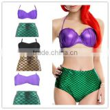 TF-W01160611006 Sexy Girls Mermaid Set bikinis woman swimwear 2016 Swim Costume Bandage Set Swimsuit Bathing Gift