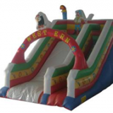 Commercial inflatable giant slide, inflatable jumping slide castle