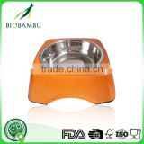 Biological Diswasher safe Best sale bamboo fiber square pet bowl