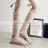 B33262A China hot sale Summer Fashion Sexy Women strappy long Sandal Boots