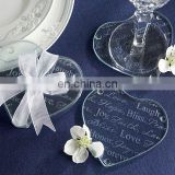 Heart-Shaped Words of Love Coasters