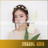 2016 New Fashion Bride Flower Headband Festival Wedding Floral Garland Summer Hair Band Scrunchy Headband
