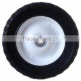8 inch semi-pneumatic rubber wheel for garbage bin, garden cart, lawn mower