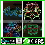 fashion Christmas led flashing party shutter glasses